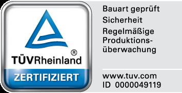Troax TÜV Certificate.