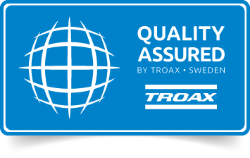 Troax symbol Quality Assured.