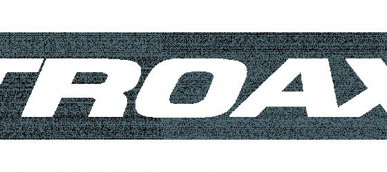 Troax logotype, white, RGB
